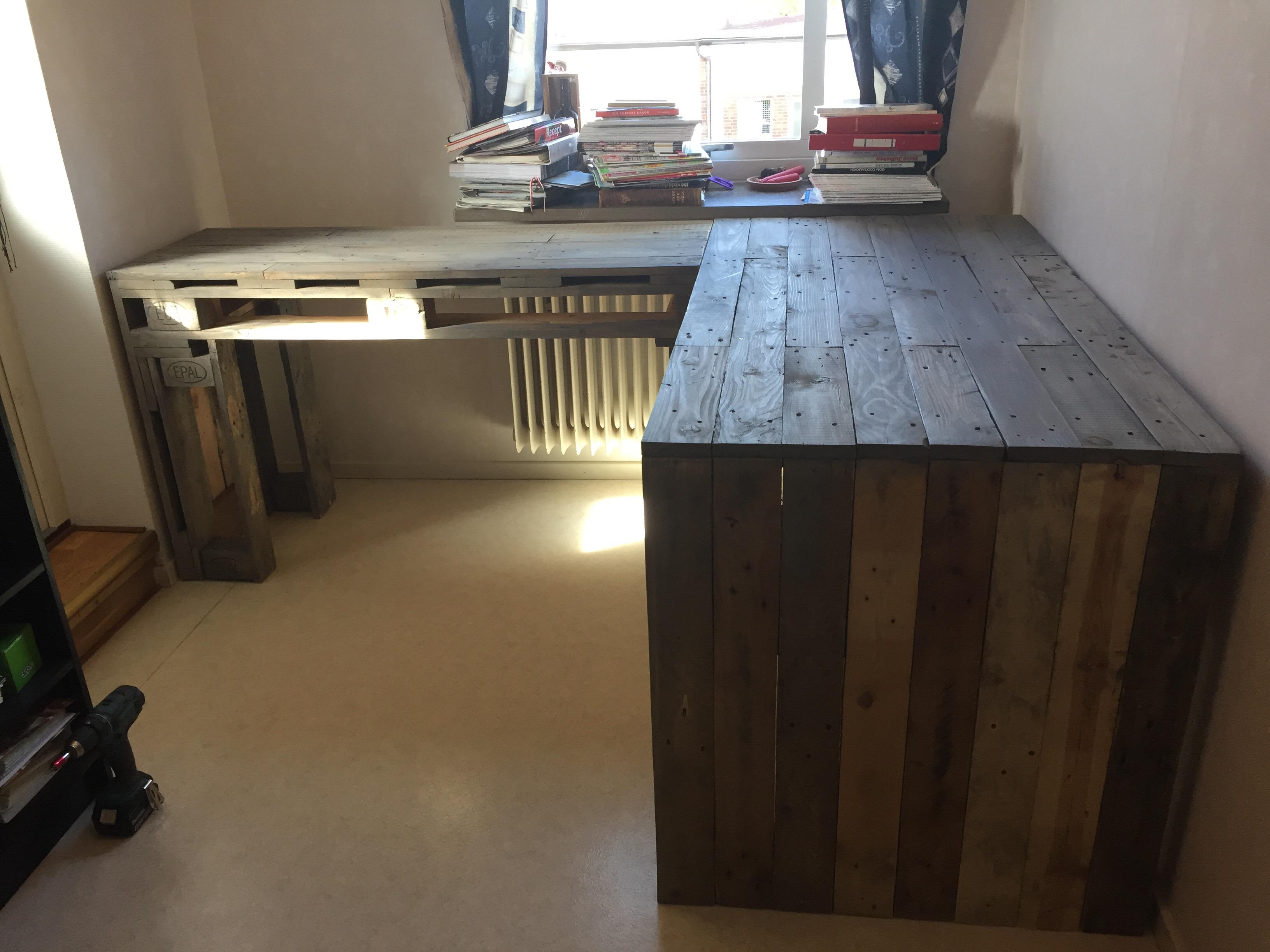 Skrivbord av lastpall #3