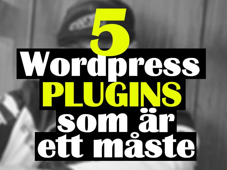 5 WP plugins som är ett måste